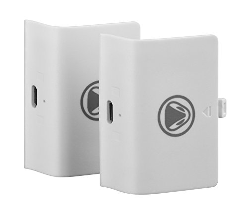 Snakebyte Xbox One Twin Battery Pack – 2 Rechargeable Battery Packs for Xbox One, S, Xbox One X and Elite Controllers (White) Review