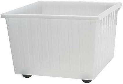 IKEA VESSLA - caja de almacenaje con ruedas, blanco - 39x39 cm: Amazon.es: Hogar