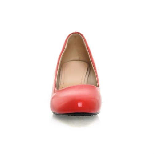Bedel Voet Mode Dames Basis Klassiek Lage Hak Pumps Veelkleurig Rood