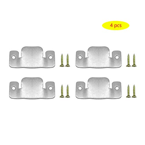 AWTOK Sectional Sofa Connector Bracket, Sectional Couch Connectors Bands for Sectionals,Furniture Connectors with Screws,4 Pieces (Brackets Furniture)