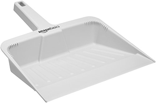 AmazonBasics Heavy-Duty 12-inch Dustpan, Grey - 6-Pack ()