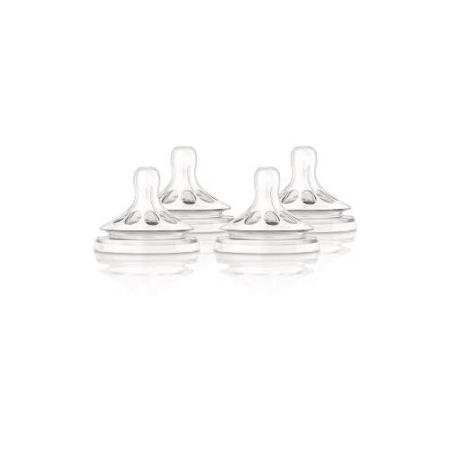 Philips Avent Natural Nipple Fast Flow - 4 Pack by Philips AVENT