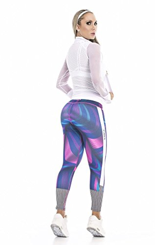 fb298087552c6 Fiber Colombian Activewear Printed Leggings with Designs Gym Workout Tights