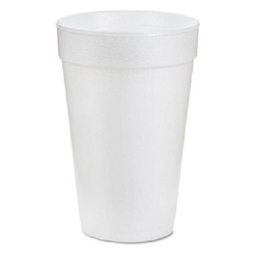 Drink Foam Cups, 16 Ounces, White, 40 Bags of 25 Per Carton