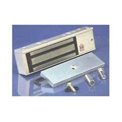 Rofu 8011-LC-US28 Magnetic Door Locking Device for Single Door, Bi-Coloured LED, Aluminium by Rofu