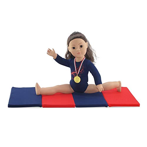 Life Medal - Emily Rose 18 Inch Doll Clothes | Gymnastics Leotard with Mat and Gold Medal! l Fits 18
