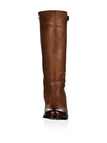 Buffalo London Stiefel mit Gummizug Leder Braun Marron