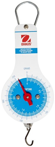 Ohaus 8011-MN Dial Type Spring Mechanical Scale, 250g/2.5N Capacity, 2g/0.02N (Dial Type Spring Scale)