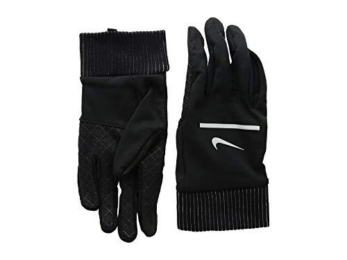 NIKE Men's Sphere Running Gloves (Black/Silver, Large)