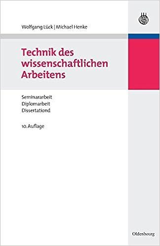Technik Des Wissenschaftlichen Arbeitens German Edition