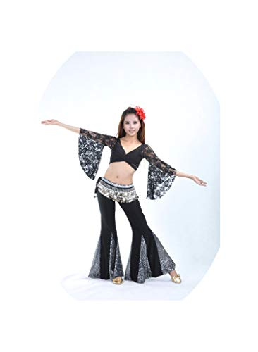 The Lace Top + Fishtail Skirt Belly Dance Clothing Belly Dance Clothes,Brown,One Size