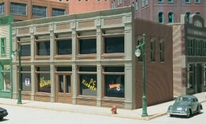 Ho Scale Building Dpm - HO KIT DPM JC Nickels by Woodland Scenics