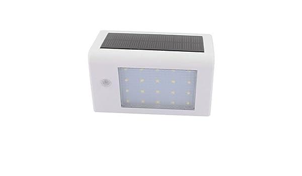 La pared la luz del sensor de movimiento eDealMax energía solar 20 LED a prueba de agua Ahorro de Energía Lámparas al aire libre blanca - - Amazon.com