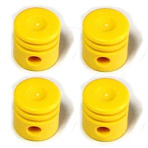 3 LEGO Yellow Technic Engine Piston Round
