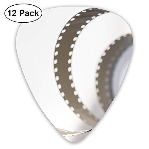 Classic Guitar Pick (12 Pack) Camera Flim Movie Player's Pack for Electric Guitar,Acoustic Guitar,Mandolin,Guitar Bass