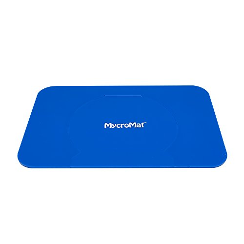 Silicone Jar Mat Opener (Microwave Easy Safe Mat 100% Silicone 3-1 Perfect for Hot Bowl Cups Jar opener, Blue- by Mycromat)
