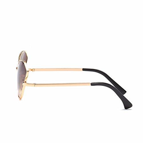Ojo Gafas con La Mujer polarizada de C Marco Gato de Sobredimensionado Metal C Intellectuality de Espejo XzPqwPd