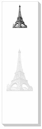 Ars Antigua Slim Writing Blocs (Notepads) - Vintage Eiffel Tower Engraving - Two Blocs of 50 Sheets Each - Total of 100 Printed ()