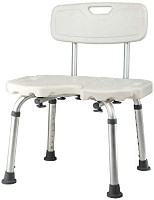 GUO Haushalt Rutschfester Duschhocker Duschhocker höhenverstellbar Aluminium Badezimmer Dusche Hocker/Bad Sitzbank for Ältere/Behinderte/Schwangere Frauen-Schuh ändern Aisle Bench-U-förmige Fläche K