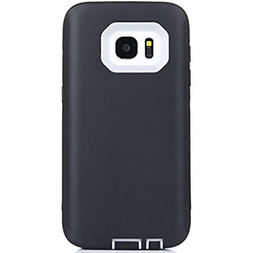 Galaxy S7 Case. LUOLNH Hard PC Shell and Soft Silicone Hybrid 3 in 1 Pieces Shockproof Anti-Scratch Combo Cover Sales