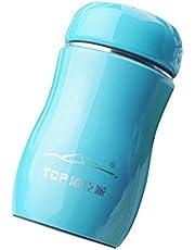 ZZDJ Taza de Termo 230ML Acero Inoxidable Color Caramelo Frasco de vacío Botella térmica Taza Botella Termo Taza Termo para Comida Caliente Botellas de Agua Tazas Swig S
