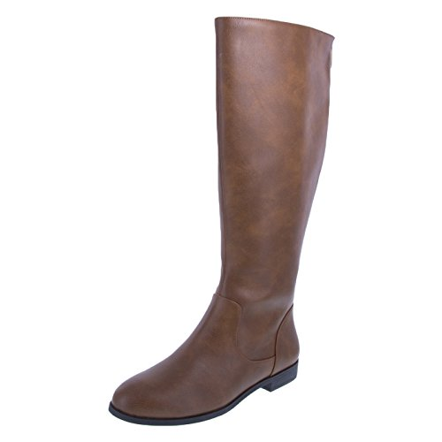 Lower East Side Women's Cognac Women's Tasha Tall Boot 8 Wide