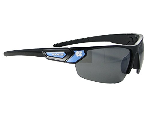 North Carolina Tar Heels Black Blue Mens Sport Sunglasses UNC Gift S12JT ()