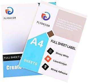 Flydecor - Papel adhesivo para impresoras de inyección de tinta y ...