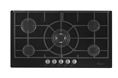 Empava EMPV-36GC5L90I 5 Italy Sabaf Burners Gas Stove Top Cooktop 36 Inch