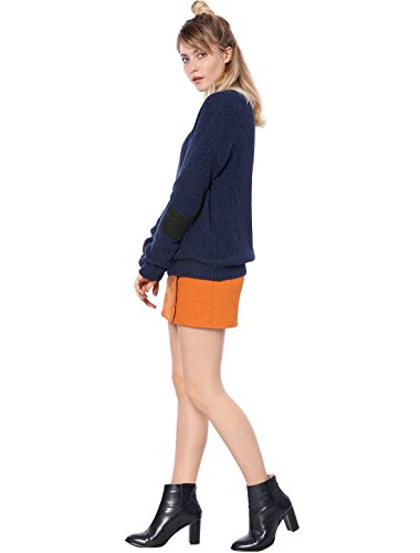 Épaule Loose K Patch Cat Elbow Sweater Allegra Dame Blue Drop qEwdxW0W