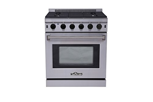 Thorkitchen LRG3001U Freestanding Style Gas Range with 4.55 cubic Feet Oven, 5 Burners, Convection Fan, 30- - Oven Single Freestanding Gas