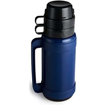 Amazon Com Double Cup Glass Insulated Bottle 34 Ounce