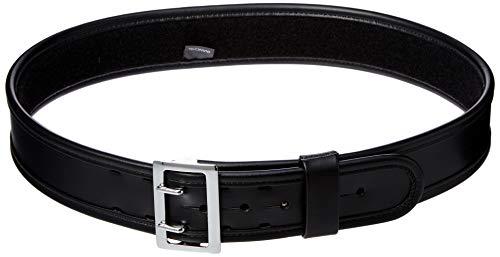 - Bianchi 7960 PLN Black Sam Browne Belt with Chrome Buckle (Size 34)