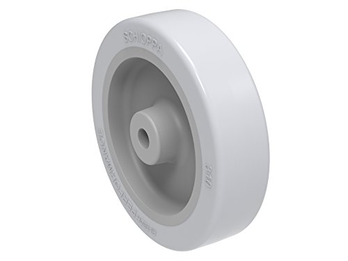 Schioppa  R 310 Sp  3   75 Mm   Wheel Only  1 4  Axle  Extra Soft Thermoplastic Rubber Wheel  Light Gray  70 Lbs  3 X 3 4   Flat Tread