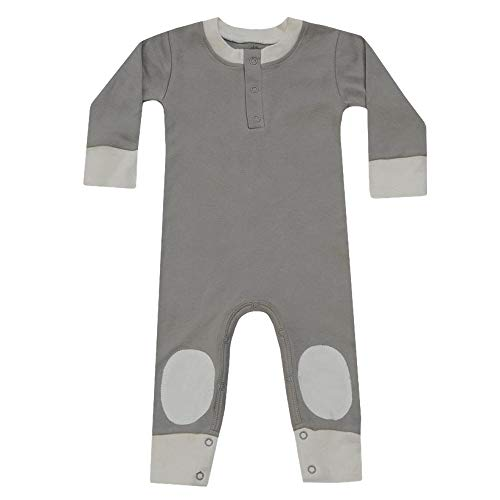 Cat & Dogma Certified Organic Infant/Baby Clothes Moon/Natural Playsuit (0-3 Months)