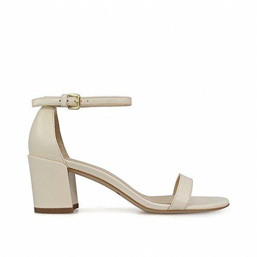 re heels Tacón de Una Sandalias áspera con 40 Abiertos Hadas Zapatos High Palabra de Chic Alto 6w4qxfBB