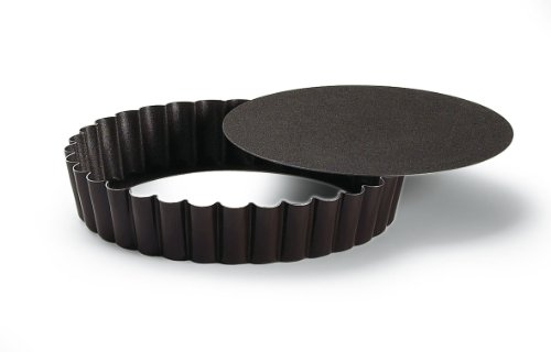 Paderno World Cuisine Non-Stick Fluted Tart Pan with Removable Bottom, 3 7/8