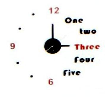 3d Wanduhr Zahlen Wort Wandtattoo Uhr Zum Aufkleben