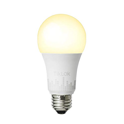 TIKLOK Smart Wi-Fi LED Light Bulb, Warm White to Daylight(2700K-6500K), Tunable, Compatible with Alexa Google Assistant and Siri on 2.4Ghz, No Hub Required