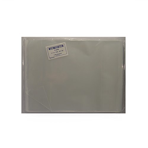100 - 9 x 12'' Poly Clear Plastic T-Shirt / Apparel Bags 2 Mil 2'' Back Flap Lock by ULINE