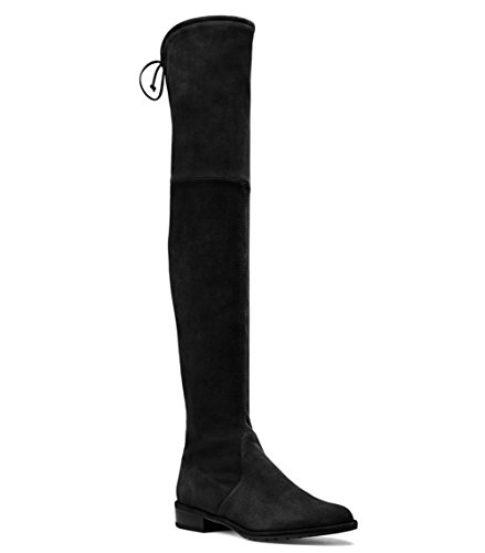 Mavirs Knee High Boots, Women's Round Toe Thigh High Over The Knee Boots Stretch Suede Flat Heel Tall Boots 12 M US by Mavirs (Image #5)