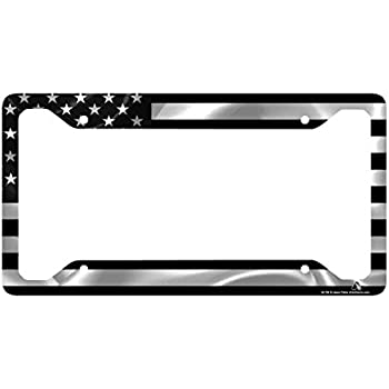 Amazon.com: Airstrike Black American Flag License Plate Frame ...