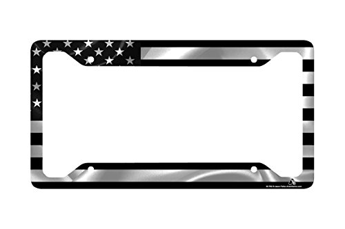 Airstrike Black American Flag License Plate Frame, American Flag Car Tag Frame, US License Plate Frame, United States Flag License Plate Frame-30-766