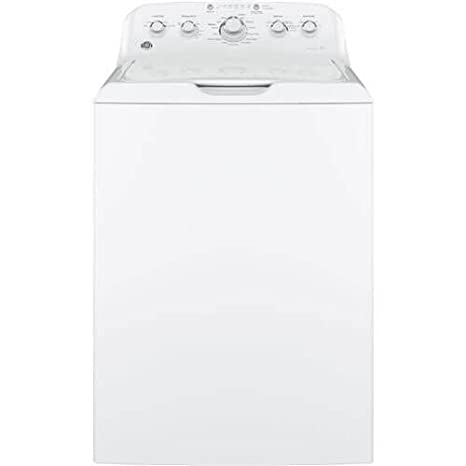 GE GTW460ASJWW Top Loading Washer with Stainless Steel Basket, 4 2 Cu  Ft   Capacity, 14 Cycles, White,