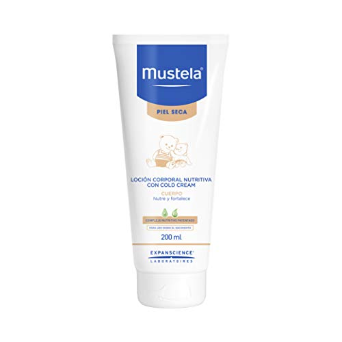 Mustela Crema Corporal Nutritiva al Cold Cream para bebé o niño con Piel Seca a base de Ingredientes Naturales, 200ml