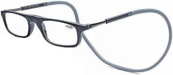 Occhiali da Lettura Occhiali Occhiali Clip Magnetica Collo Regolabile Lenti Pendenti in presbiopia Occhiali da Lettura Pieghevoli Unisex,Rosso- 2,50