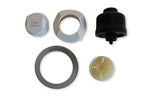 Button kit for Three posistion control panel on/off button replacement oyster with dvd tutorial by Jacuzzi Whirlpool Bath (Image #1)