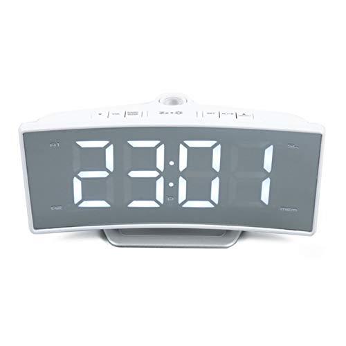 PTICA Reloj de Mesa Función de Carga USB Arco Radio Proyección ...