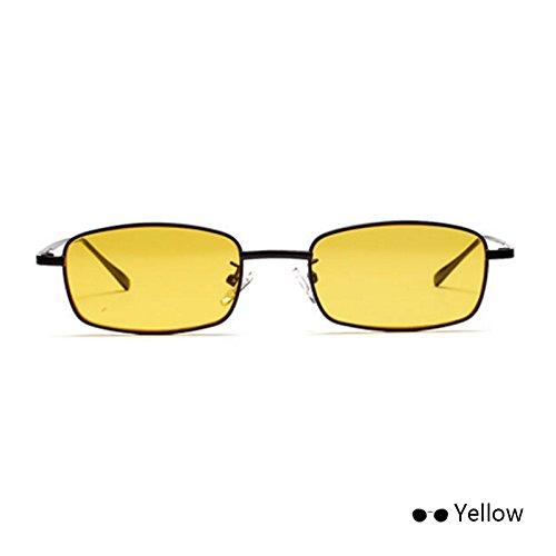 Chica Estrecho Externa Color De Amarillo Visor TIANLIANG04 Cíclope De Para De Mujer Sol Ocean Yellow Reflejado Vidrio Lente De Única Metal Gafas Monturas qpng4