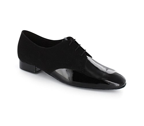 TDA Men's JF917504 Fashion Black Suede Leather Tango Salsa Ballroom Latin Dance Shoes 9 M US by TDA